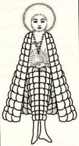 Sketch approximation of the drawing that Lucia made of the apparition.