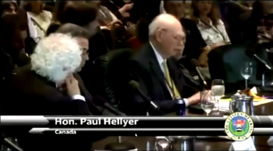 Paul Hellyer at Citizen Hearing